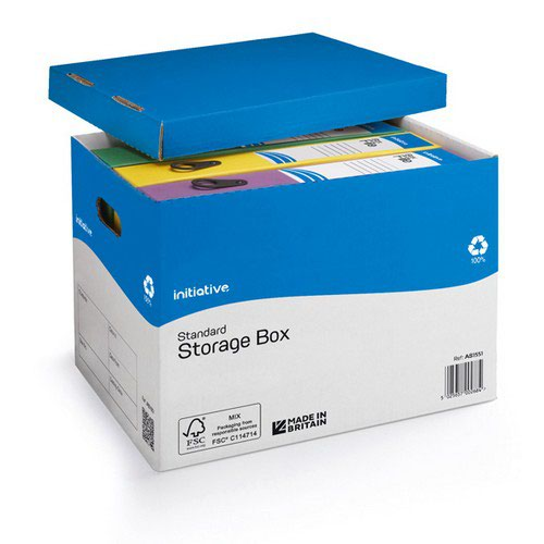 Initiative Standard Storage Box  A4/Foolscap 284w x 383d x 290h mm