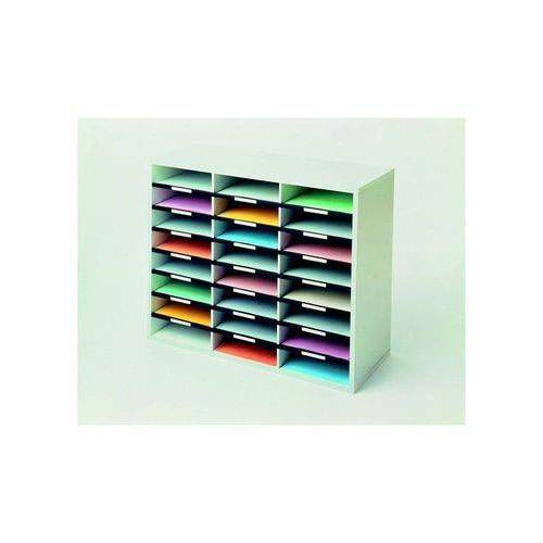 Fellowes Literature Sorter Melamine-laminated Shell 24 Compartments 737x302x594mm