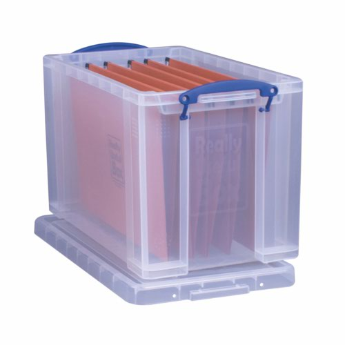 Really Useful Storage Box Plastic Lightweight Robust Stackable 24 Litre + 10 Suspension Files