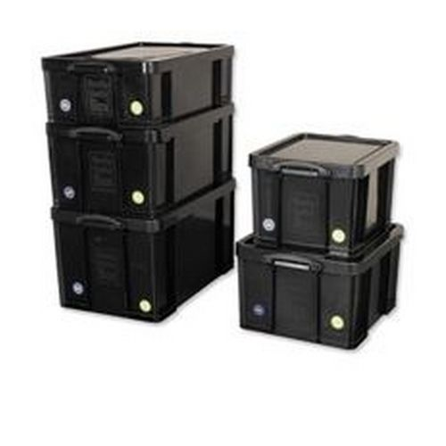Really Useful 42 Litre Recycled Storage Box Black