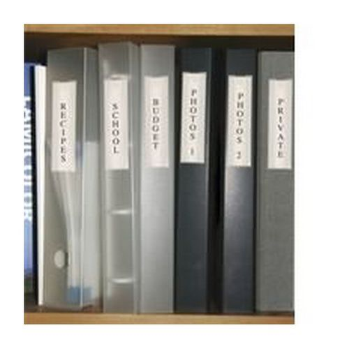 Pelltech Clear/White Label Holders 55x102mm (Pack of 6) 25330