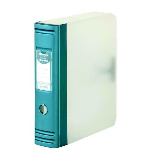 Hermes A4 8cm Heavy Duty Polypropylene Box File Metallic Blue