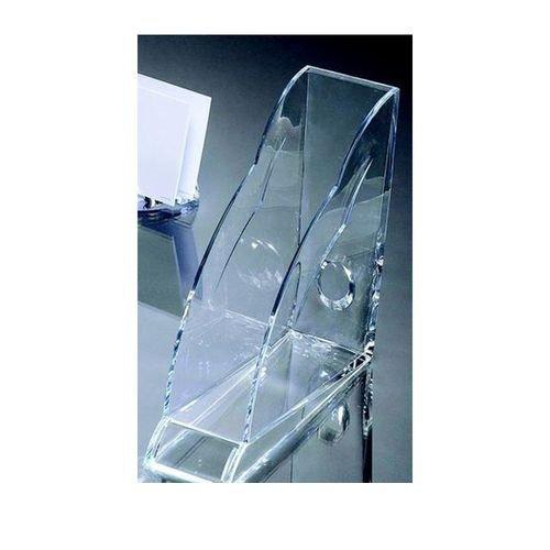 Rexel Nimbus Acrylic Magazine Rack Tranz Clear
