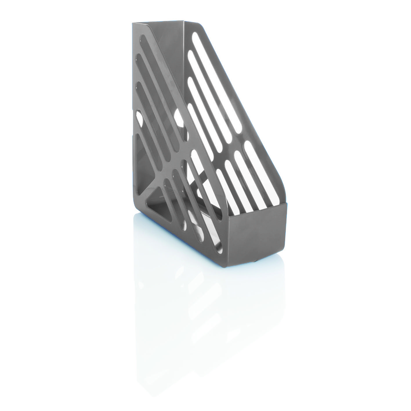 Basic Magazine Rack File Foolscap Grey