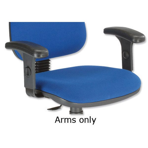 Trexus Office Italia Deluxe Optional Arms Height-adjustable for Office Chair [Pair]
