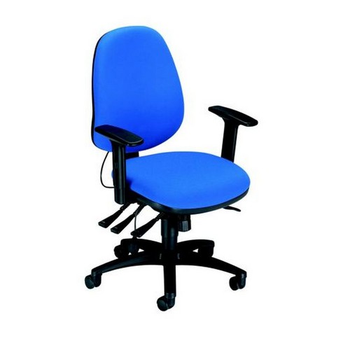 Sonix Support S3 Chair Asynchronous Lumbar-adjust High Back Slide Seat 480x450x460-570mm Onyx Ocean