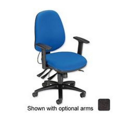 Sonix Support S3 Chair Asynchronous Lumbar-adjust High Back Slide Seat 480x450x460-570mm Onyx Black
