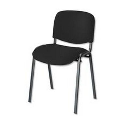 Trexus Stacking Chair Shaped-seat Seat 480x420x500mm Black