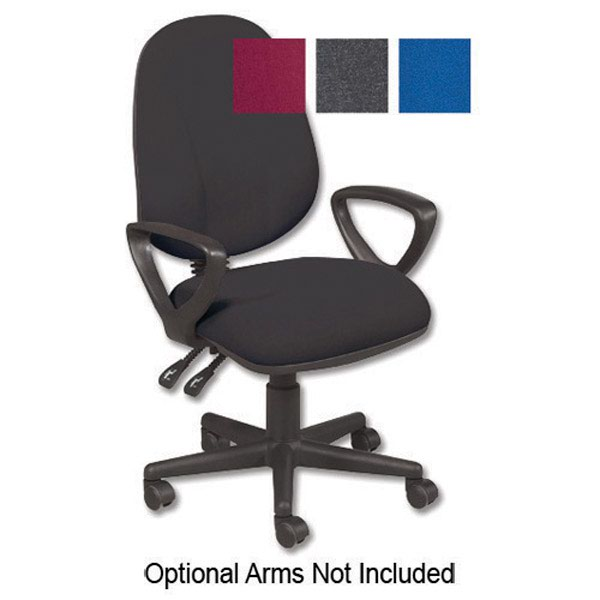 Initiative High Back Permanent Contact Chair Charcoal