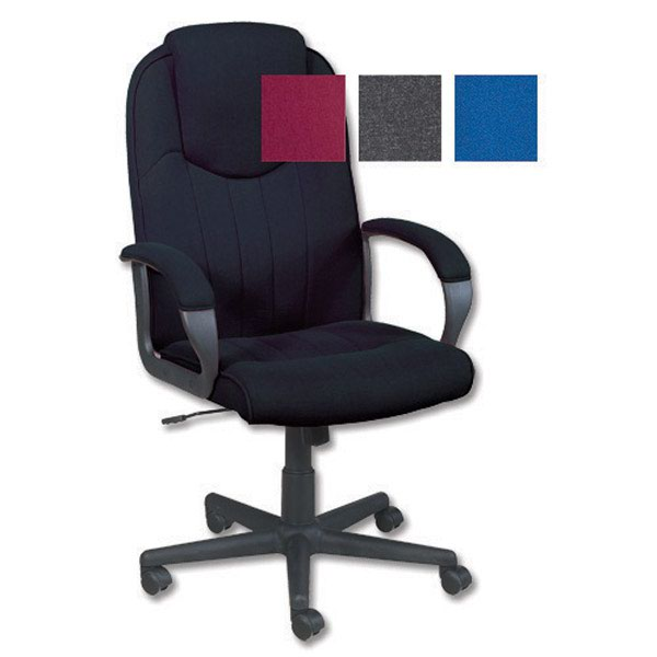 Image for Trexus Intro Managers Armchair High Back 690mm Seat W520xD470xH440-540mm Charcoal