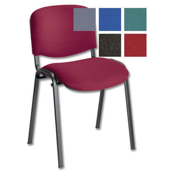 Initiative Stacking Chair Burgundy