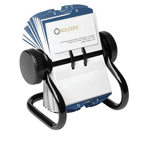 Image for Rolodex Business File Black 400 Capacity 67236