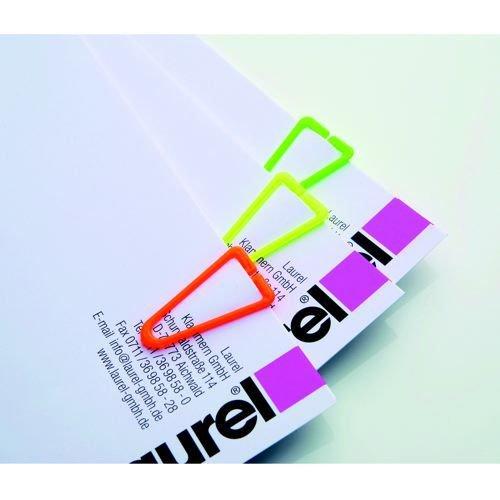 Laurel Plastic Paper Clips 35mm Assorted Pack 200