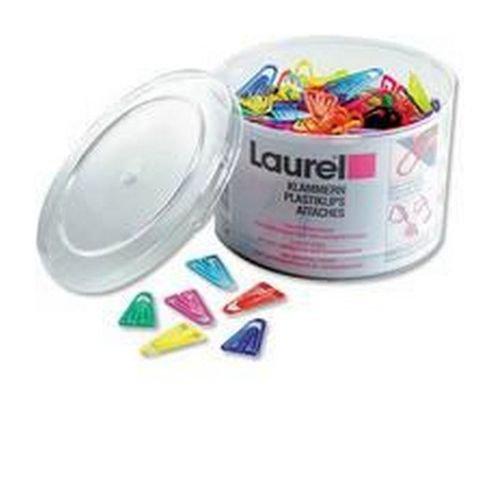 Laurel Plastic Paper Clips 60mm Assorted Pack 75
