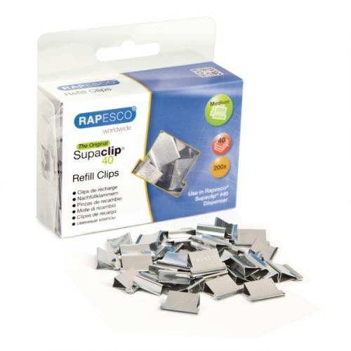 Rapesco Supaclip 40 Refill Stainless Steel Pack 200