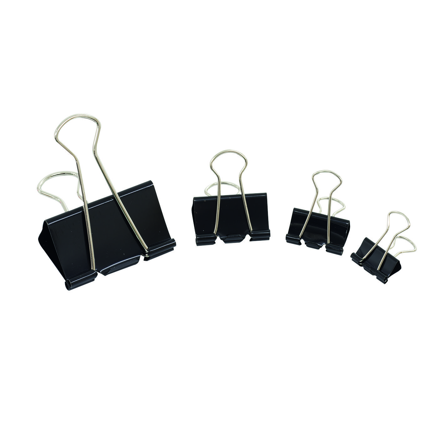 Initiative Fold Back Clips 24Mm Black 10