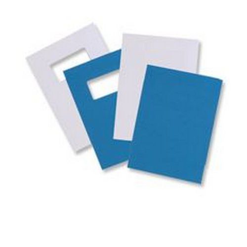 GBC LeatherGrain 250gsm A4 With Title Window Blue Binding Covers (Pack of 50) 46735U