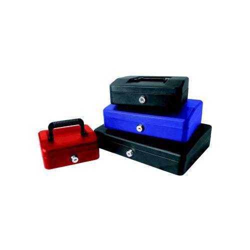 Helix 15cm Sloping Lid Cash Box Black