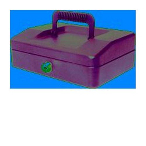 Helix 20cm Sloping Lid Cash Box Black