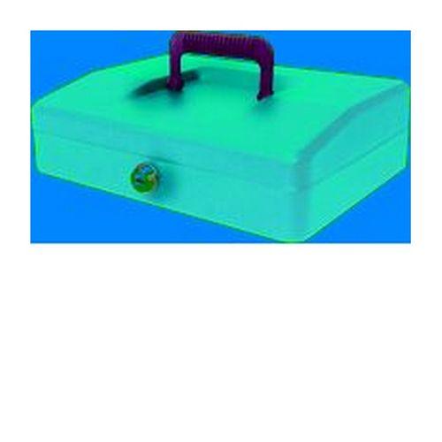 Helix 25cm Sloping Lid Cash Box Blue
