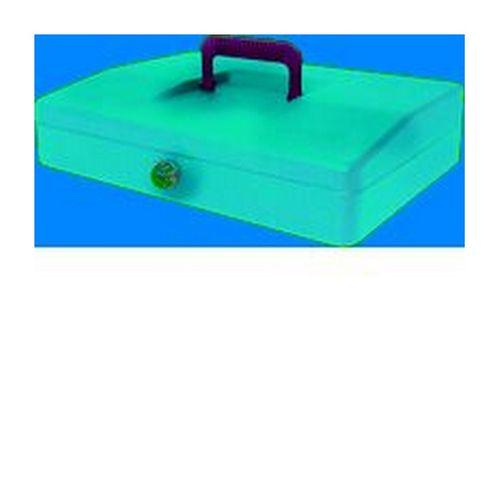 Helix 30cm Sloping Lid Cash Box Blue