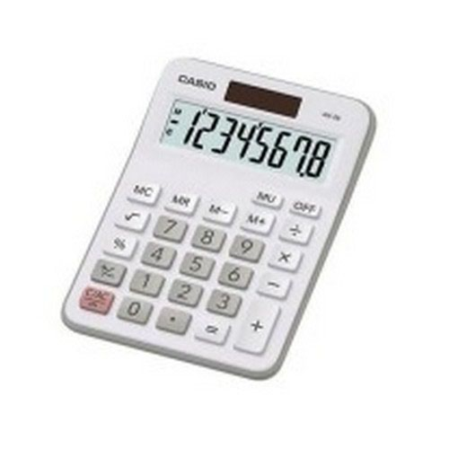 Casio Desktop Calculator White MX-8B-WE-S-UC
