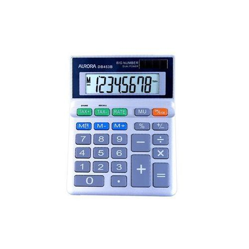 Aurora Grey 8-Digit Semi-Desk Calculator DB453B