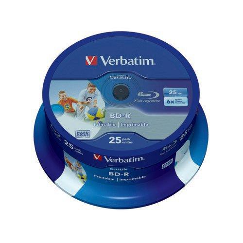 Image for Verbatim Blu-ray Inkjet Printable 25GB 25s