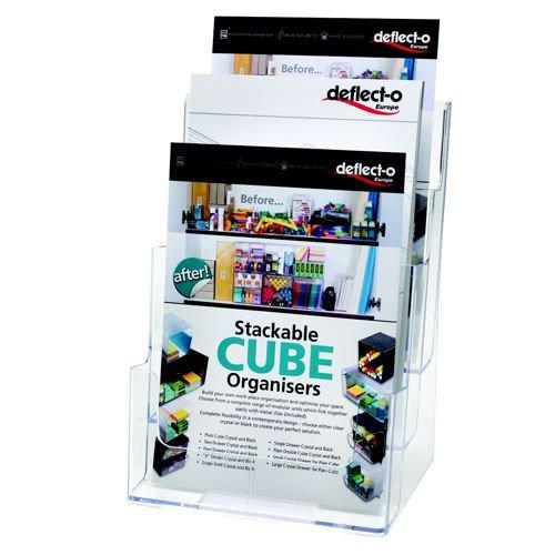 Deflecto 3 Pockets Literature Holder Magazine Size