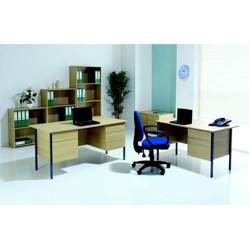 Initiative 1500mm 4 Leg Desk Double Pedestal Beech