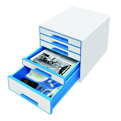 Leitz WOW Cube 5 Drawer Cabinet Blue