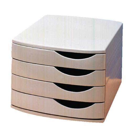 Jalema Desktop Set 4 Closed Drawers Grey