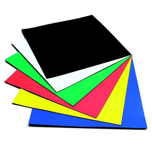 Nobo Assorted Colours 150mm Magnetic Squares (Pack of 6) 1901104