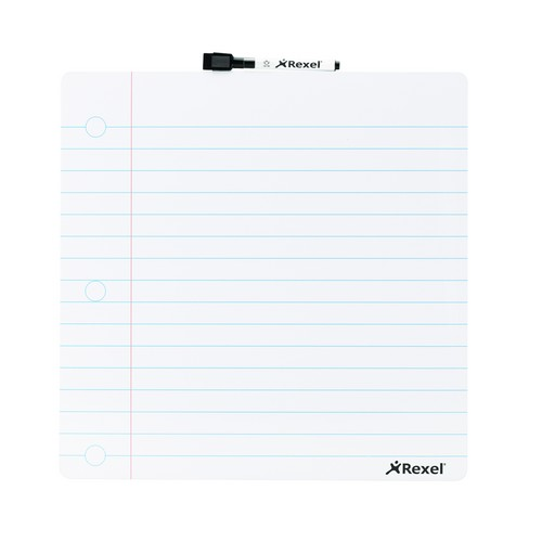 Rexel Notepad Dry Erase Board 360x360mm 2104174