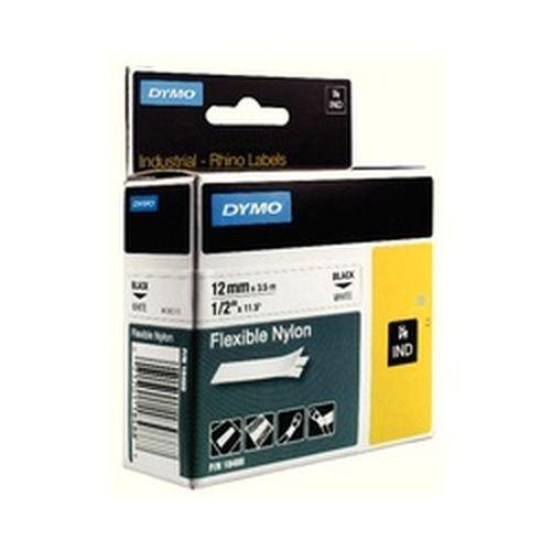 Dymo Rhino PRO Industrial Tape Flexible Nylon 12mm Black on White