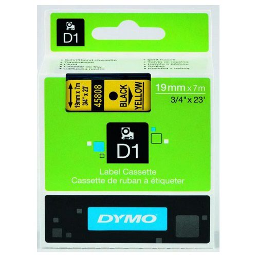 Dymo Black on Yellow 2000/5500 Standard Tape 19mmx7m S0720880