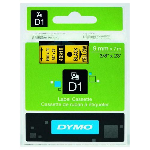 Dymo Black on Yellow 1000/5000 D1 Standard Tape 9mmx7m S0720730