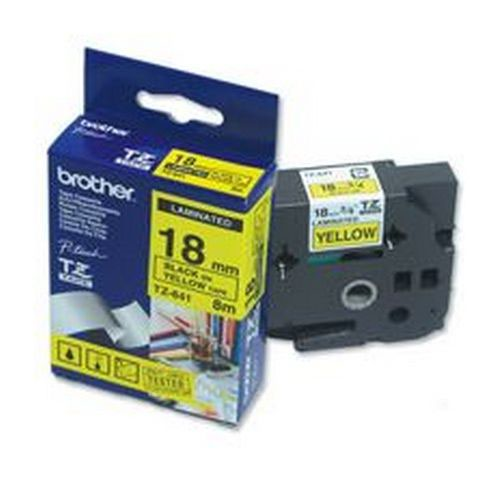 Brother P-Touch Tape TZ-641 18mm Yellow/Black