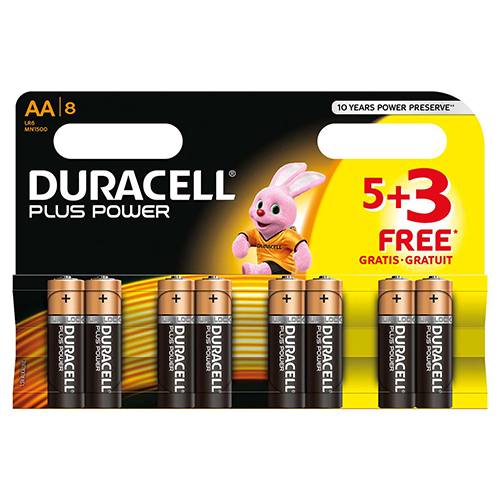 Image for Duracell AA Plus Power 5+3 Free