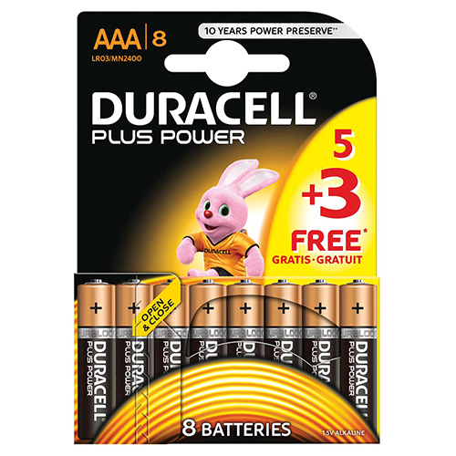 Image for Duracell AAA Plus Power 5+3 Free