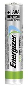 Energizer EcoAdvanced Alkaline AAA Batteries E92 (Pack of 4) E300128100