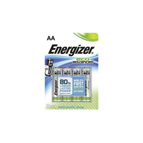 Energizer EcoAdvanced Alkaline AA Batteries E91 (Pack of 20) E300487800