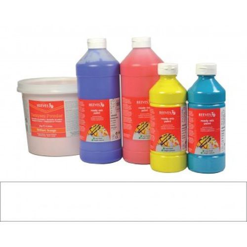 White Reeves Redimix Paint 500Ml