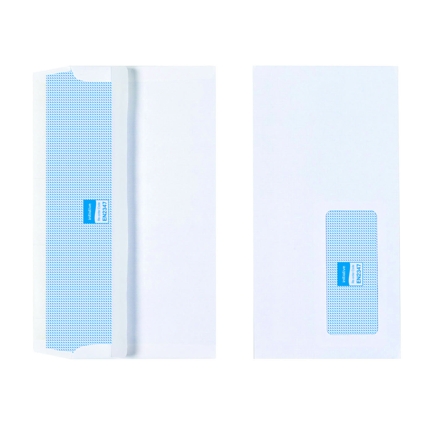 Initiative Envelope DL Self Seal Window 90gsm White Pack 1000