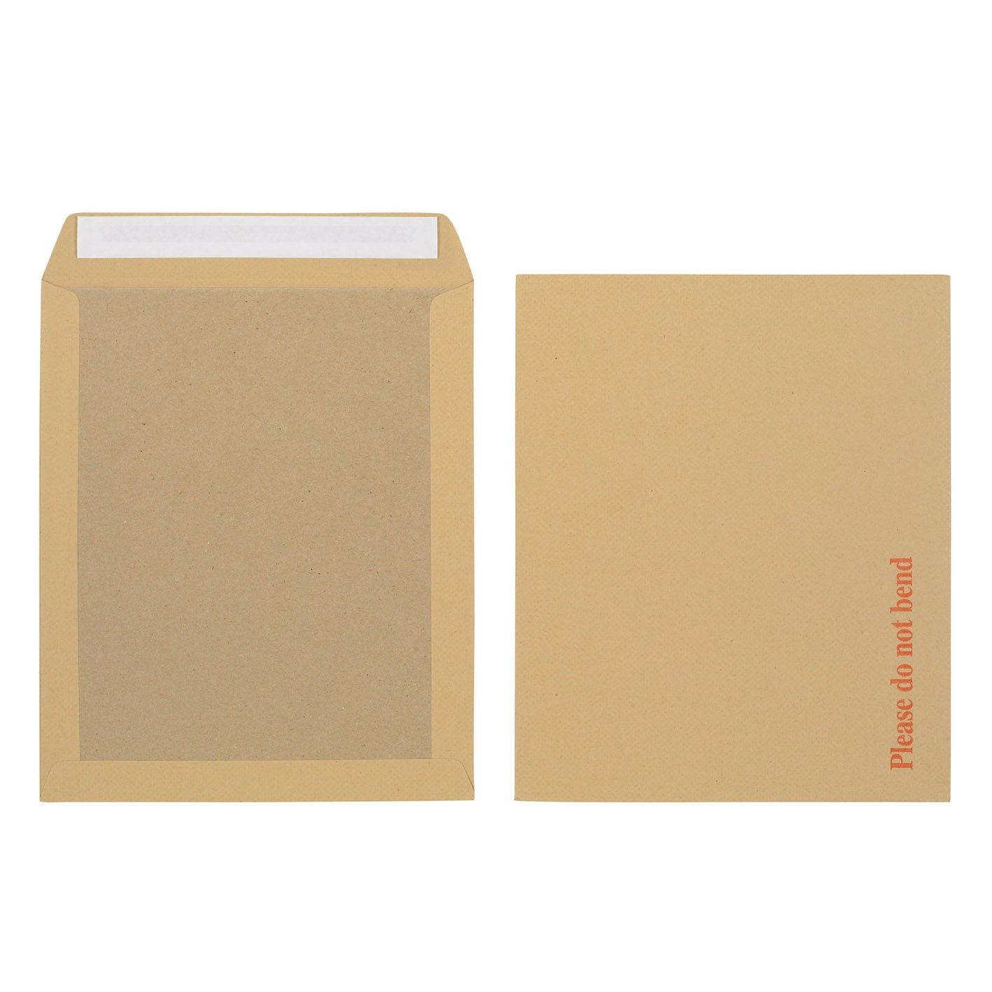 Initiative Envelope Boardbacked Peel & Seal 318 x 267mm 115gsm Manilla Pack 125
