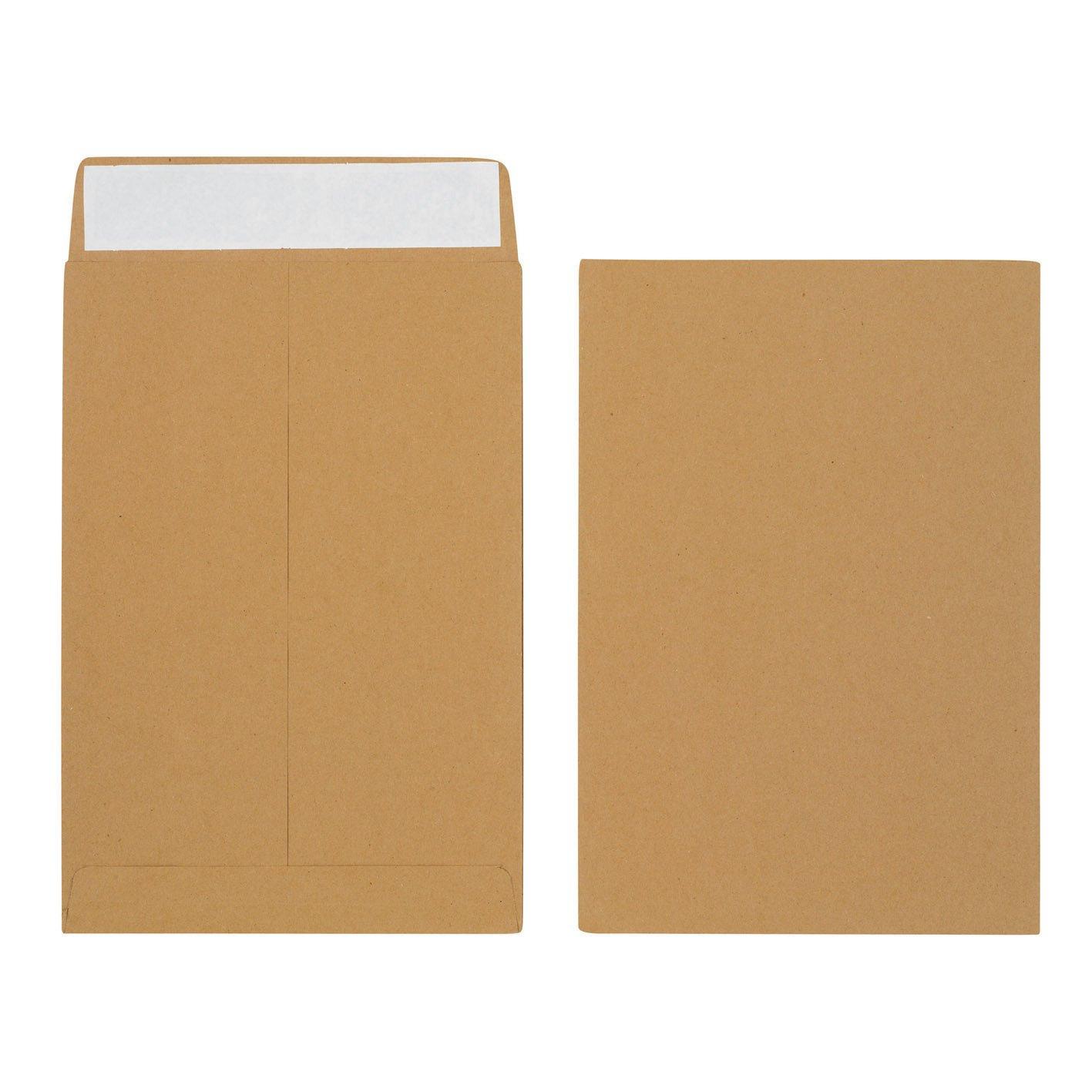 Initiative Envelope 25mm V-Base Gusset Pocketed Plain Peel n Seal 340x248x25120gsm Manilla Pack 125