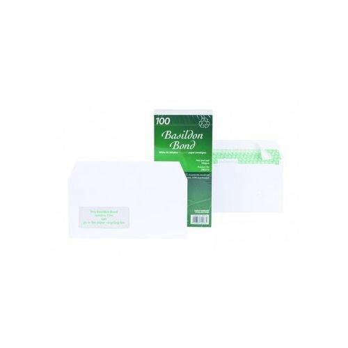 Basildon Bond Envelope DL White Window 100gsm Cellowrap Pack 100