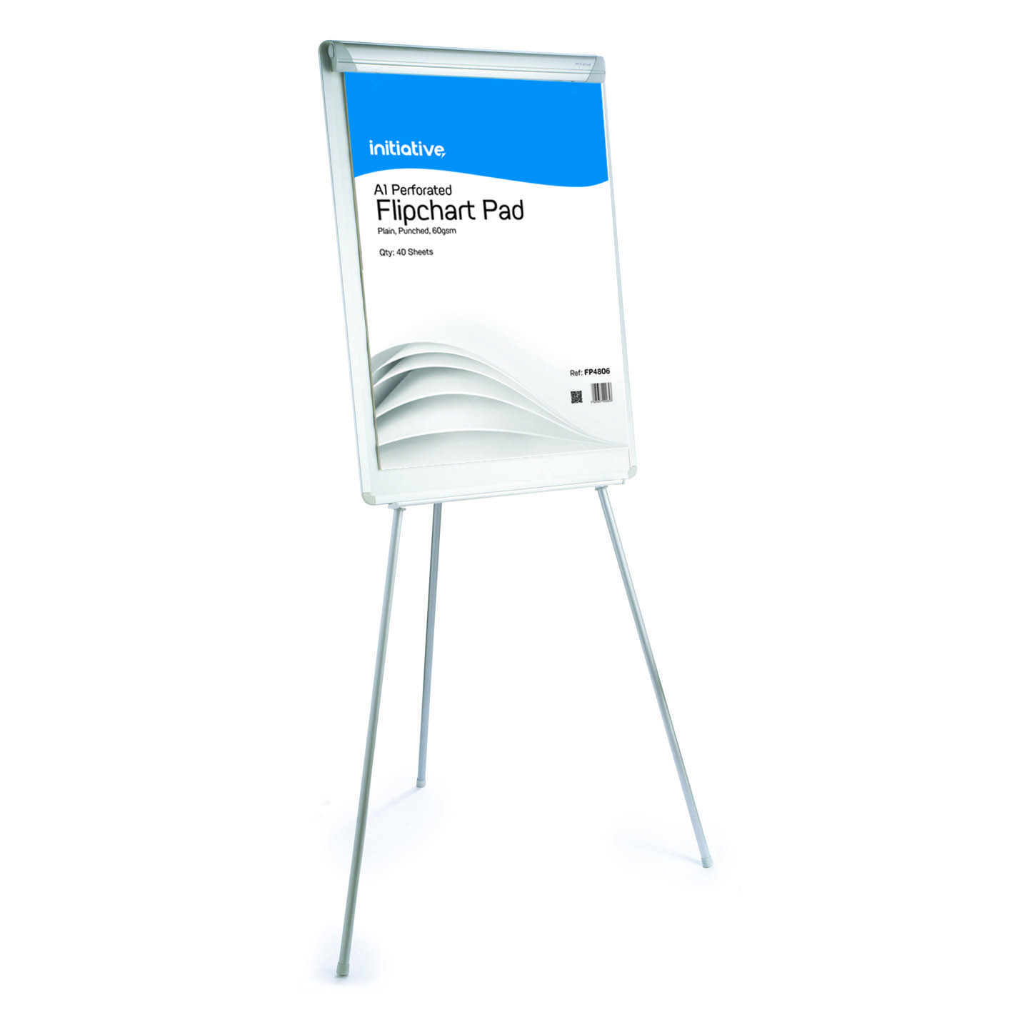 Initiative Flipchart Easel Drywipe Surface and Pen Tray