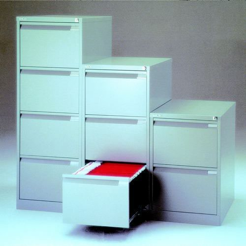 Bisley Grey Four-Drawer Filing Cabinet (Pack of 1) BS4EGY