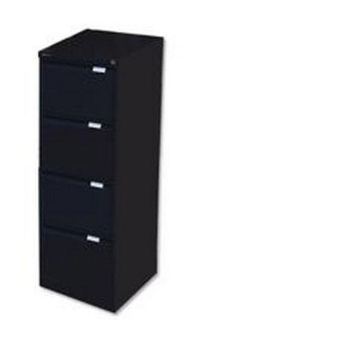 Bisley 4 Drawer BS4E Filing Cabinet Flush Front Black
